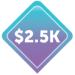 $2500 Image Badge