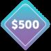 $500 Image Badge