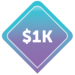 $1000 Image Badge